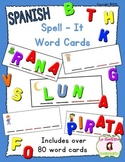 Spell-It Word Cards (Spanish)