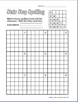 Spelling - 23+ Any List Activities for 1st and 2nd Grade