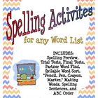 Spelling Activites for any Word List