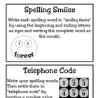 Spelling Activity Cards! Quick and Engaging Activities for