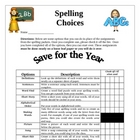 Spelling Assignment Choices for Students: Definitions, Sen