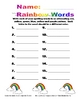 Spelling Assignment for Any List- Rainbow Words