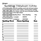 Spelling Assignment for Any List- Telephone Words