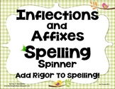 Spelling Center Inflectional Endings Affixes K-5th Common