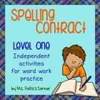 Spelling Contract 1:  Easier