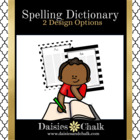 Spelling Dictionary (Red, Black, & White)