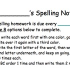 Spelling Differentiated Homework