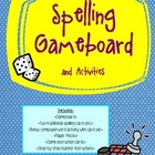 Spelling Game Board and Activities plus Compound Word Activity