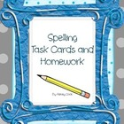 Spelling Task Cards and Homework