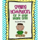 Spelling Homework - Grade 1 Reading Street