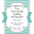 First Grade Spelling Homework for a Full Year!