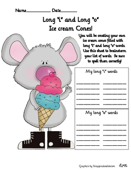 Spelling Ice Cream Cones, Fun Long Vowels Activity