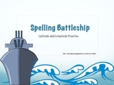 Spelling Latitude Longitude Battleship Game
