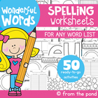 Spelling Word Work Worksheets - For ANY List!