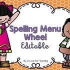 Spelling Menu Wheel 