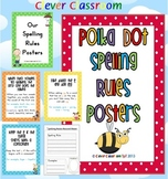 Spelling Rules Posters Polka Dot Theme with record sheets