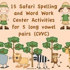 Spelling Safari- Word Work Center Activities