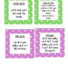Spelling Task Cards for First Grade
