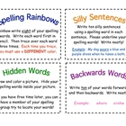 Spelling Task Cards - over 50 spelling task cards