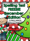 Spelling Test FREEBIES ~ December Edition!!!