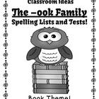 Spelling The -ook Family Word Work Lists & Tests