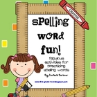 Spelling Word Fun!