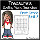 Spelling Word Searches Unit 3 Macmillan/McGraw-Hill Treasu