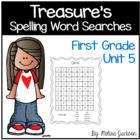 Spelling Word Searches Unit 5 Macmillan/McGraw-Hill Treasu