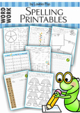 Spelling / Word Work - 17 printable worksheets