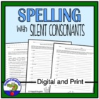 Spelling Words with Silent Consonants Worksheet