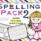 Spelling & Writing Activities 5 Weeks Pack 2 {Fry's 30-60