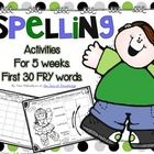 Spelling & Writing Activities 5 Weeks Pack 1 {Fry's first