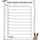 Spelling and Dictation Test Templates