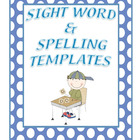Spelling and Sight Words Templates Freebie