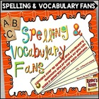 Spelling and Vocabulary Fans Using Bloom's Taxonomy