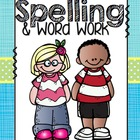 Spelling and Word Work Activities Packet (20 Week spelling list)