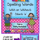 Spellings with silent e or not