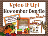 Spice It Up! November Bundle (Reading, Writing, and Math)