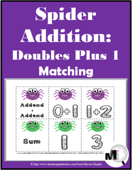 Spider Addition - Doubles Plus 1 Matching