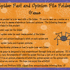 Spider Fact and Opinion File Folder Game