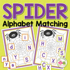 Spider Letter Match for Early Childhood Learning Fun