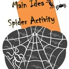 Spider Main Idea Activity