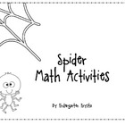 Spider Math Center Activities