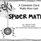 Spider Math...A Common Core Math Mini-Unit