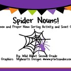 Spider Nouns!  Common and Proper Noun Scoot Game and Sorti