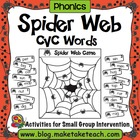 Spider Web Game for CVC Words
