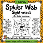 Spider Web Game for Sight Words
