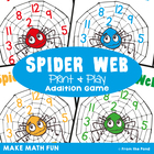 Spider Web - Math Center Game for Early Addition
