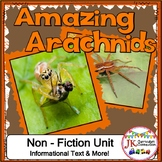 Spiders! Amazing Arachnids: Non-fiction Unit {Common Core