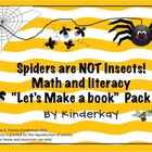 Spiders Are NOT Insects Math and Literacy I Can Make a Book Pack